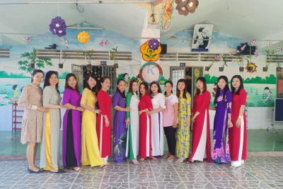 Trường Mẫu giáo Vĩnh Bình Bắc tổ chức mít tinh kỷ niệm ngày Quốc tế phụ nữ 8/3